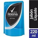 Jabon Liquido Active REXONA Doy 220 Ml