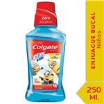 Enjuague Bucal COLGATE Plax Kids Minions Botella 250 Ml