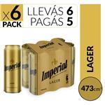 Cerveza Lager IMPERIAL Pack Latas 473 Cc 6 Unidades