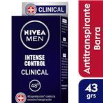 Desodorante Antitraspirante NIVEA MEN Clinical Barra 42 Gr