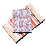Mantel Stripe/Floral 150x250 Cm . . .