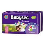 """Pañales  BABYSEC Premium Colores """"XG"""" 32 Unidades"""