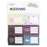 Etiquetas Escolares Mooving 12 Unidades Varios Diseños