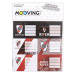 Etiquetas Escolares Mooving River Plate 12 Unidades Varios Diseños