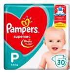 "Pañales PAMPERS Supersec ""P"" 30 Unidades"