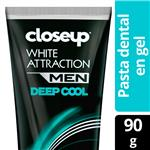Crema Dental CLOSE UP  White Attraction Men Pomo 90 Gr