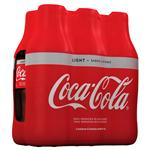 Gaseosa COCA COLA Light   Pack X 6 Unidades 600 Cc