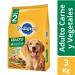 Alim. Perros Carne Y Vegeta Pedigree Paq 3 Kgm
