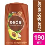 Acondicionador SEDAL  Bomba De Nutrición Botella 190 ML