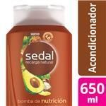 Acondicionador SEDAL  Bomba De Nutrición Botella 650 ML
