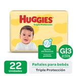 "Pañales  HUGGIES Classic  ""G"" 22 Unidades"