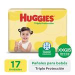 "Pañales  HUGGIES Classic  ""XXG"" 17 Unidades"