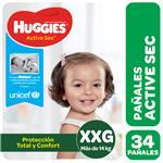 Pañal HUGGIES Active Sec Xxgx34