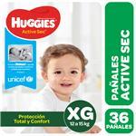 Pañal HUGGIES Active Sec Xgx36