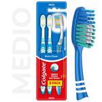 Cepillo Dental COLGATE Extra Clean Blister 3 Unidades