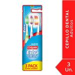 Cepillo Dental COLGATE Extra Clean Blister 3 Unidades