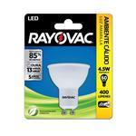 Lámpara Led Dicroica RAYOVAC Calida 4.5 W Gu10   Blister 1 Unidad