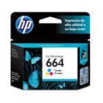 Cartucho HP 664 Tinta Color