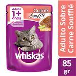 Alimento En Sobres Adultos WHISKAS 85 Gr Carne Soufflé
