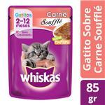 Alimento En Sobres Cachorros WHISKAS 85 Gr Carne Soufflé
