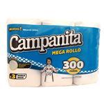 Rollo De Cocina CAMPANITA   300 Paños Paquete 3 Unidades
