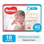 "Pañal ""Xg"" HUGGIES Natural Care ""12 A 15 Kg"" 18 Uni"