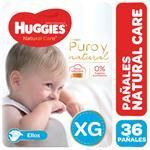 Pañal HUGGIES Natural Care Ellos Xgx36