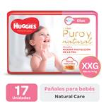 "Pañal ""Xxg"" HUGGIES Natural Care ""Más De 14 Kg"" 17 Uni"