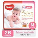Pañal HUGGIES Natural Care Ellas Mx26