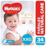 "Pañal ""Xxg"" HUGGIES Natural Care ""Más De 14 Kg"" 34 Uni"