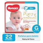 Pañal HUGGIES Natural Care Ellos Gx22