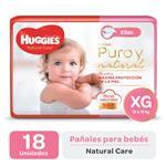 Pañal HUGGIES Natural Care Ellas Xgx18