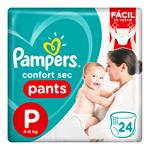 "Pañales  PAMPERS Confort Sec   ""P"" 24 Unidades"