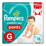 """Pañales PAMPERS Confort Sec """"G"""" 18 Unidades"""