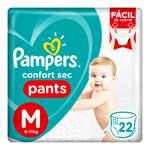 """Pañales  PAMPERS Confort Sec   """"M"""" 22 Unidades"""