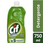 Detergente CIF ACTIVE GEL Limón Verde   Botella 750 Ml