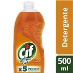 Detergente CIF Active Gel Naranja Botella 500 Ml