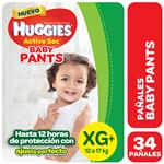Pañal HUGGIES Active Sec Baby Pants Xg+ X34