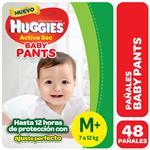 Pañal HUGGIES Active Sec Baby Pants M+ X48