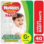 Pañal HUGGIES Active Sec Baby Pants G+ X40