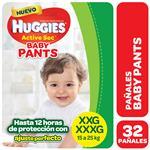 Pañal HUGGIES Active Sec Baby Pants Xxg/Xxxg X32