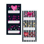 Etiquetas Escolares Love 6 Unidades Varios Diseños