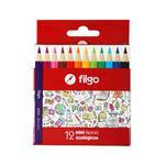 Setx12 Lapices De Colores Pinto Mini