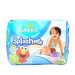 Pañales  PAMPERS Splashers  (AJUSTABLES) 14-18 KG 22 Unidades