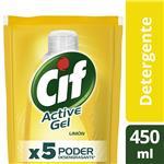 Detergente CIF ACTIVE GEL Limón Doypack 450 Ml