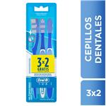 Cepillo Dental ORAL B 1-2-3 Classic Blister 3 Unidades