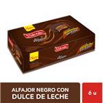 Alfajor  VALENTE   Dulce De Leche Paquete 55 Gr 6 Unidades