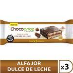Alfajor Chocoarroz Dulce De Leche Paquete 25 Gr 3 Unidades