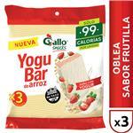 Oblea D/Arroz Yoguba Gallo Snack Paq 60 Grm