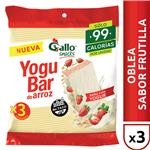 Oblea D/Arroz Yoguba Gallo Snack Paq 60 Grm